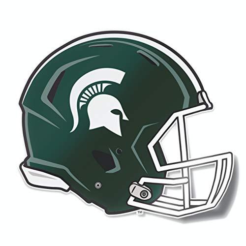 Nudge Printing Michigan State University Spartans MSU Football Helmet Sparty Car Window Decal Bumper Sticker Laptop Sticker
