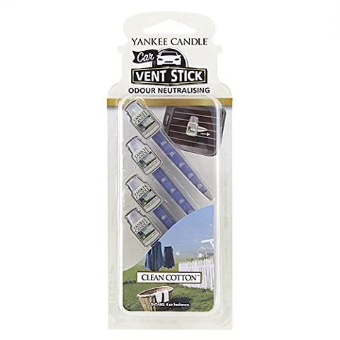 Yankee Candle Clean Cotton Car Vent Sticks (Pack of (Profumata Auto Deodoranti)