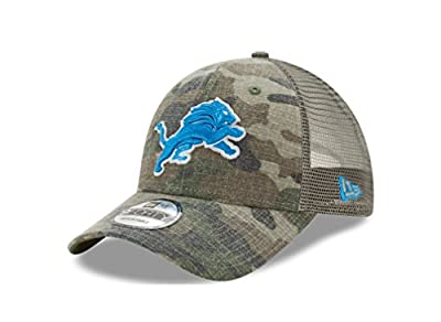 Detroit Lions Camo Trucker Duel New Era 9FORTY Adjustable Snapback Hat / Cap from New Era