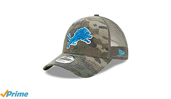 lowest price 60801 db8d6 Amazon.com   Detroit Lions Camo Trucker Duel New Era 9FORTY Adjustable  Snapback Hat   Cap   Sports   Outdoors