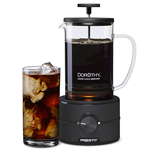 Presto 02937 Dorothy™ Electric Rapid Cold Brewer – Cold brew at home in 15 minutes – No more waiting 12 to 24 hours.