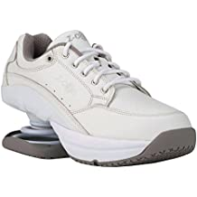 Z-CoiL Pain Relief Footwear Women's Legend Slip Resistant White Leather Tennis Shoe