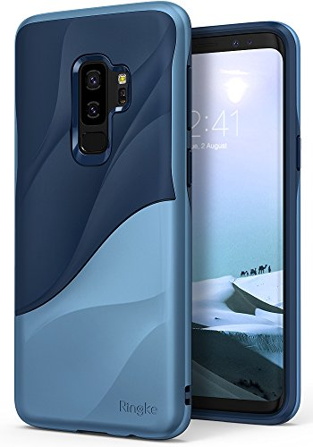 Ringke Wave Compatible with Galaxy S9 Plus Case [Coastal Blue] Dual Layer Heavy Duty 3D Textured Shock Absorbent PC TPU Full Body Drop Resistant Protection Cover for Galaxy S 9 Plus (2018)