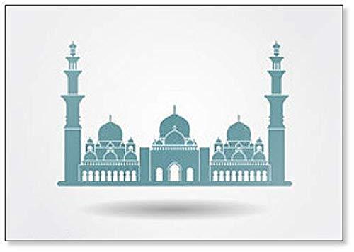 (Sheikh Zayed Grand Mosque Abu Dhabi Minimalist Abstract Illustration Classic Fridge Magnet)