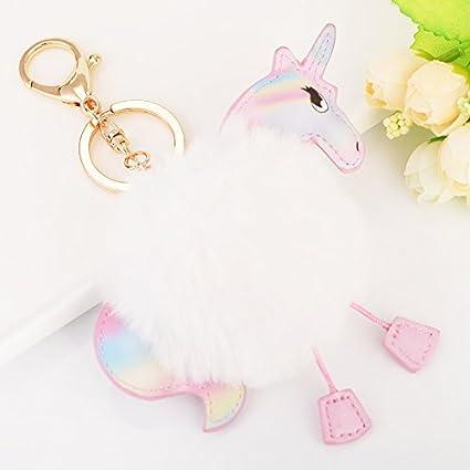 dulijun forro unicornio poni anillo llave de coche de peluche ...