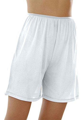 Comfort Choice Women's Plus Size 3-Pack Nylon Boxer Briefs White,9