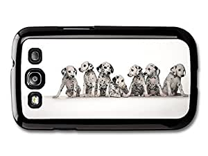 AMAF ? Accessories Eight Cute Dalmatian Puppies case for Samsung Galaxy S3