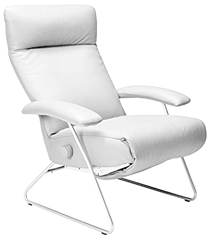 Demi Recliner Chair White Leather Lafer Recliner Chairs