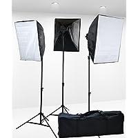 Fancierstudio Lighting kit Professional Digital Video lighting Continuous Softbox Lighting Kit with Lighting Stand, 3000 Watt - (9026S3)