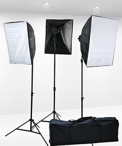 Fancierstudio Professional Digital Video Continuous Softbox Lighting Kit with Lighting Stand, 3000 Watt – (9026S3)