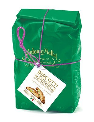 Antonio Mattei Green Bag Biscotti with Pistachios - 8.8 oz