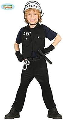 Guirca - Disfraz de policía con chaleco y camisa, para niños de 5 ...