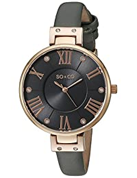SO & CO New York Women's 5091.3 SoHo Analog Display Quartz Grey Watch