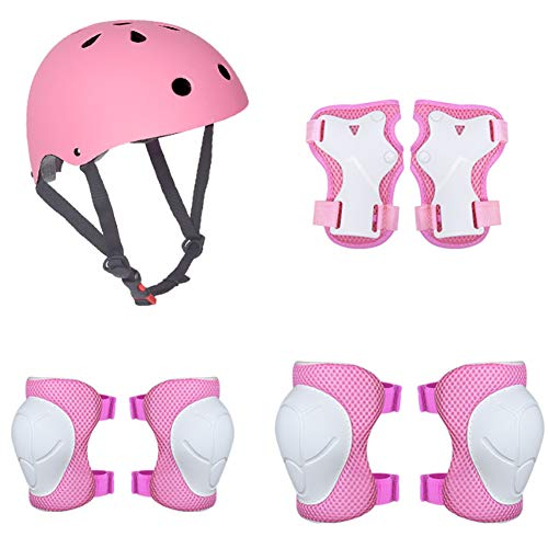PRXD Kids Helmet, Suitable for Ages 3-8 Years Toddler Boys Girls – Sports Protective Gear Set with Knee Elbow Wrist Pads…
