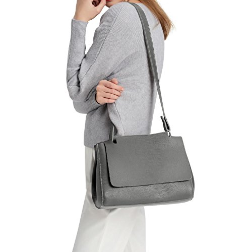 girl E Bag Leather Style S894 Shoulder 285 New Grey Pu AqnxwaFdqr