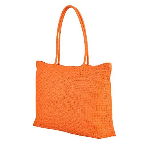 Fashion Summer Womens Overzise Shoulder Bag Beach Exercise Tote Ipad (Orange) (Infant Pink Flapper Costume)