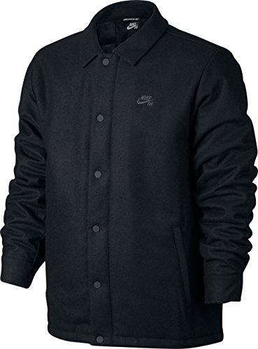 Nike SB SB Wool Coaches Jacket Black/Anthracite Men's Coat Medium