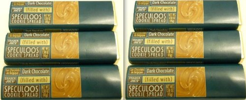 6 Trader Joe's Dark Chocolate Bars Filled with Speculoos Cookie Spread Delicious and Decadent