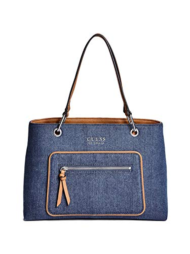 GUESS Factory Women's Nikolai Denim Satchel