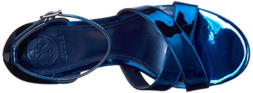 Guess Women's Dalla Heeled Sandal Blue QrLMsiZ