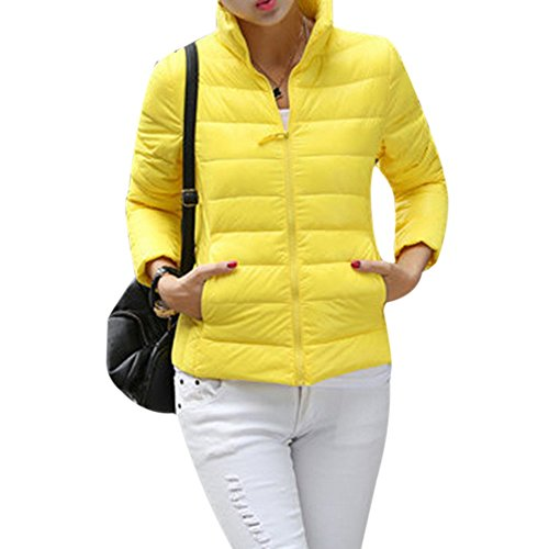 Chaud Femme Hiver Fashion Veste Blouson Jacket en Parka Jaune Wenyujh Court Ultra Manche Lgre Doudoune Duvet Manteau Longue UqwdCnY