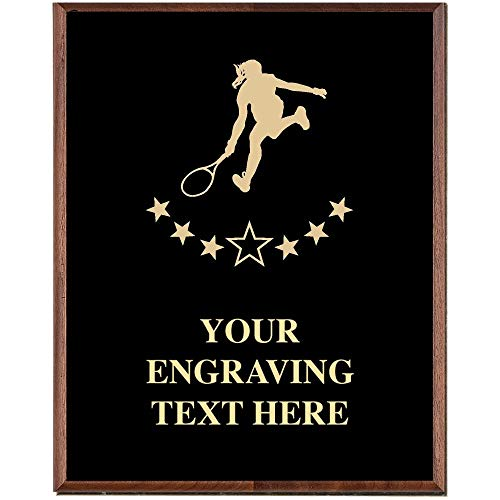 - Crown Awards Tennis Plaques, Custom Engraved Female Tennis Player Trophy Plaque Award, Great Customizable Tennis Gift Prime