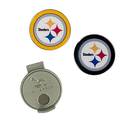 Team Effort NFL Pittsburgh Steelers Hat Clip & 2 Ball Markers ()