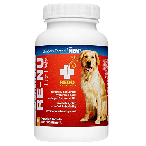 (Redd Remedies - RE-NU for Pets, Promotes Joint Health for Your Dog with Natural Eggshell Membrane, 60 Count)