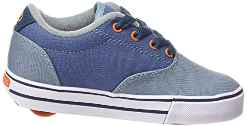 HEELYS Launch 770690 - Zapatos una rueda para niños Denim/Light Blue/Orange