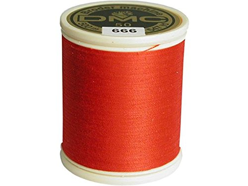 DMC 237A-50666 Cotton Embroidery Thread 50WT 547Yds Bright R