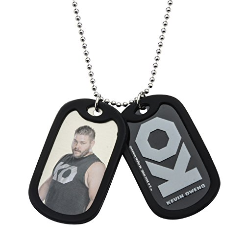 WWE Jewelry Kevin Owens Stainless Steel Double Dog Tag Men's Pendant Necklace, 24'' by WWE Jewelry