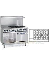 Imperial Commercial Restaurant Range 48 With 6 Burner Oven Cabinet 12 Griddle Nat Gas Ir 6 G12 Xb