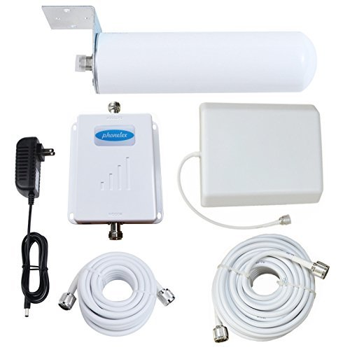 Phonelex Cell Phone Signal Booster 70dB Dual Band 850/1700MHz For T-Mobile AT&T Verizon 2G 3G 4G Band 5 Band 4 Mobile Phone Signal Booster Amplifier with Panel + Omni-Directional For Home Use [並行輸入品]   B07DZMCJKN