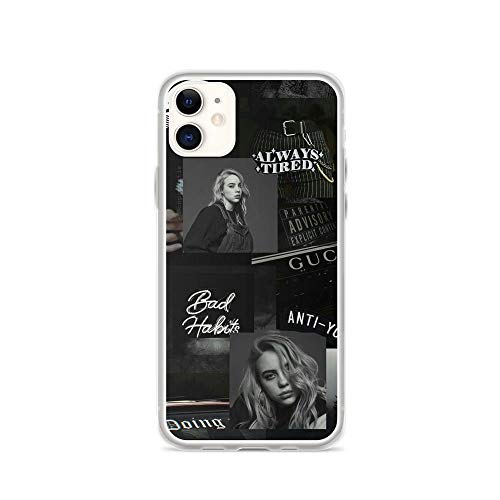Gryss Compatible with iPhone 11 Case Billie Eilish Lyrics Quote Isn't it Lovely American Music Stars Pure Clear Phone Cases Cover (Quotes Christmas Spongebob)