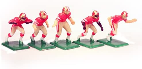 Tudor Games 3-15-D NFL Home Jersey - San Francisco 49Ers Hand Painted 11 Electric Football Players