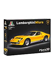 Automobili Lamborghini Lamborghini-miura Scale 1:24 Model Kit By Italeri For Assembly