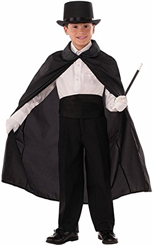 Forum Novelties Child Magician's Cape Costume, Black,
