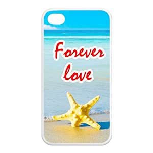 Starfish On The Beach Pattern TPU Snap On Case Cover For Iphone 4 4s