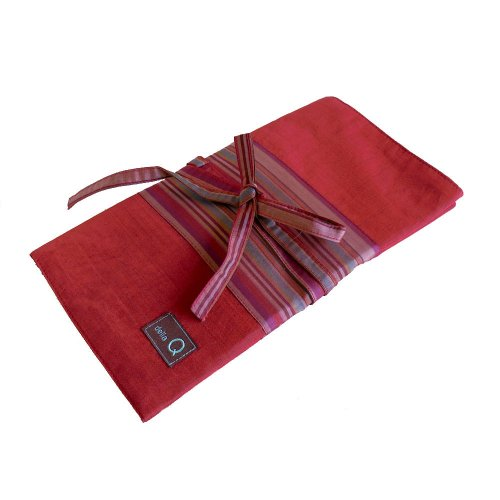 della Q Knitting Case 38-Pockets for Interchangeable Knitting Needles; 004 Red Stripes 195-1-004 by della Q