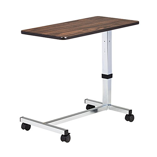 Low Height, H-Base, Over-Bed Table (Walnut Laminate Top) - CL-TS-199