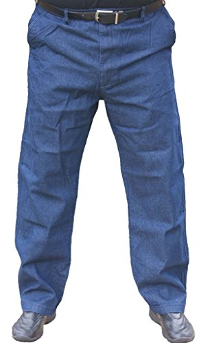 Falcon Bay The Senior Shop Men's Full Elastic Waist Denim Jeans 44/30 ()