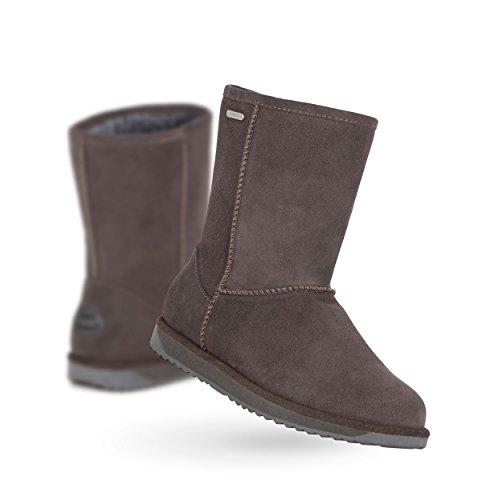 45eee4bf0f2 EMU Australia Paterson Lo Womens Waterproof Sheepskin Boots In Charcoal  Size 8