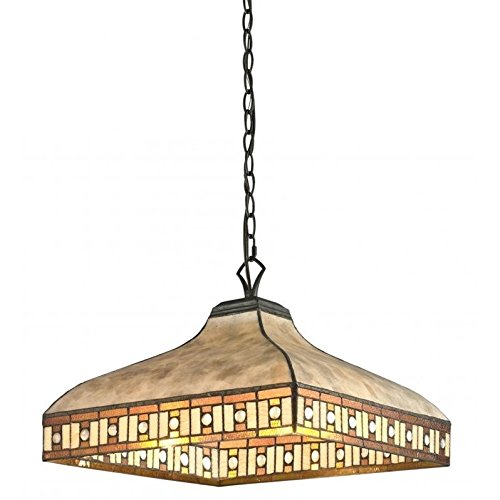Z-Lite Z17-52-03 3-Light Pendant, White Mica & Honey Amber Tiffany, Other