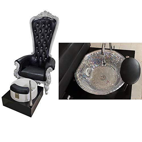 Fashion Style Beauty Salon Pedicure Chairs Manicure Pedicure Nail Station Spa Pedicure Foot Bath And Chair For Technician King ThroneRoyalty Royal Chairs With Tub Plastic And Glass Basin