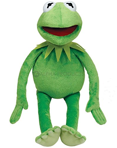 Frog Plush Doll - Kermit the Frog Doll by Alpha Toy Products - Kermit from the Muppets/Sesame Street Plush Toy - Soft Muppet Plush - Medium Size (18 inch length) - Green (Emerald) Color