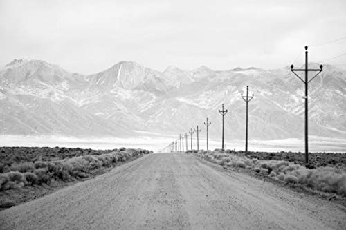 - Poster Foundry Infrared Long Exposure of a Lone Road and Power Lines Leading into The San Juan Mountain Range. Stretched Canvas Wall Art 16x24 inch