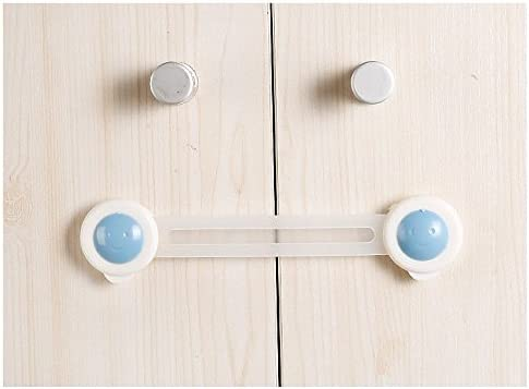 10X Drawer Door Cabinet Fridge Security Protect Lock For Child Baby Kids Safety