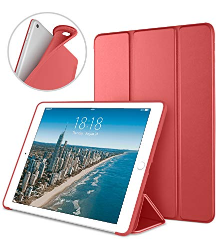 iPad Case for iPad Mini 4, DTTO [Anti-Scratch] Ultra Slim Lightweight [Auto Sleep/Wake] Smart Case Trifold Cover Stand with Flexible Soft TPU Back Cover for iPad mini4, Red