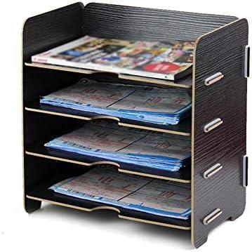Datei Racks 4Tier Organizers for Unternehmen Home School Stores Organisieren von Dateiordnern - Desktop Document Letter Tray Organizer Datei-Halter-Desktop (Color : D, Size : 26X17X27CM)