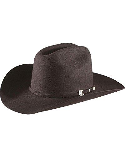 (Stetson Men's 4X Corral Buffalo Felt Cowboy Hat Black 7 1/8)